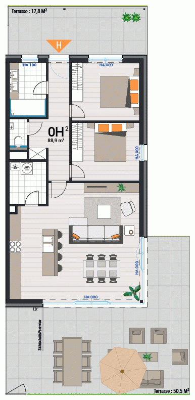 Appartement 0H
