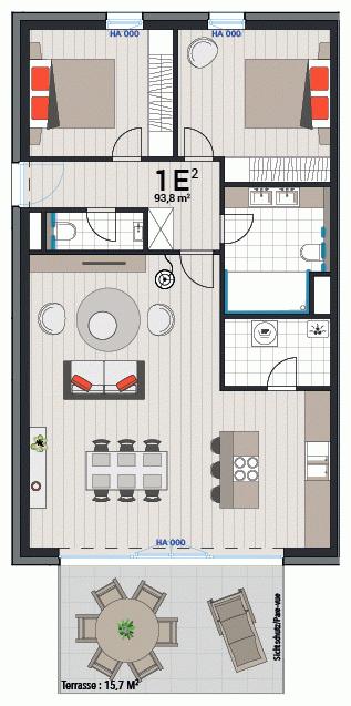 Appartement 1E