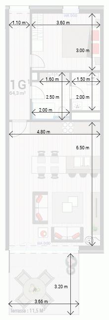 Appartement 1G
