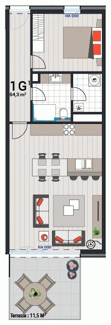 Wohnung 1G