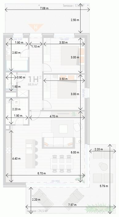Appartement 1H