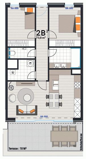 Wohnung 2B