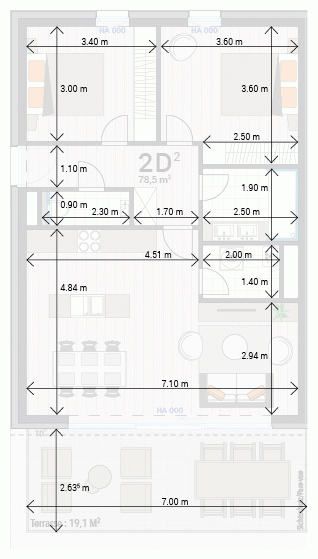 Wohnung 2D