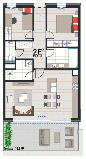 Wohnung 2E