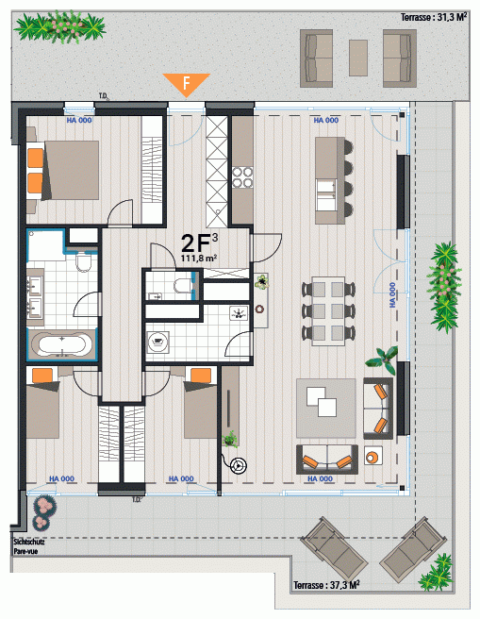 Appartement 2F